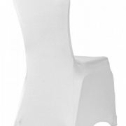 PREMIUM NYLON LYCRA CHAIR COVERS - WHITE FROM £1.99