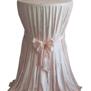 CRUSHED VELVET TABLE CLOTHS 132 ROUND - BLUSH PINK £11.99