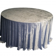 CRUSHED VELVET TABLE CLOTHS 132 ROUND - DARK SILVER £11.99