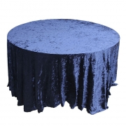 CRUSHED VELVET TABLE CLOTHS 132 ROUND - NAVY FROM £11.99