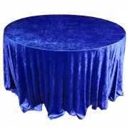CRUSHED VELVET TABLE CLOTHS 132 ROUND - ROYAL BLUE FROM £11.99