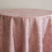 DAMASK TABLE CLOTHS 120 - BLUSH PINK FROM 14.99