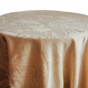 DAMASK TABLE CLOTHS 120 - GOLD FROM £14.99