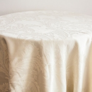 DAMASK TABLE CLOTHS 120 - IVORY FROM £24.99