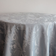 DAMASK TABLE CLOTHS 120 - SILVER £24.99