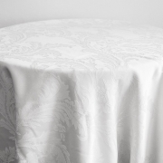 DAMASK TABLE CLOTHS 120 - WHITE FROM £14.99
