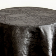 DAMASK TABLE CLOTHS 132 - BLACK £14.99