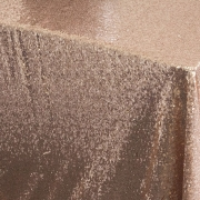 SEQUIN TABLE CLOTH 70X144 - CHAMPAGNE FROM £24.99