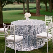 SEQUIN TABLE CLOTHS 132 - SILVER FROM 24.99